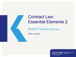 Contract Law: Essential Elements 2