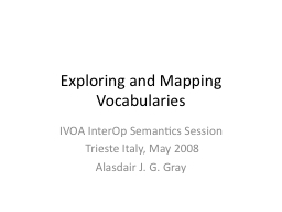 Exploring and Mapping Vocabularies