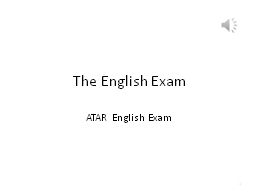 The English Exam ATAR English Exam