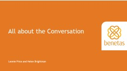 Let's have a Conversation PowerPoint PPT Presentation