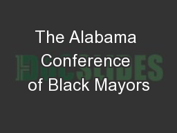 The Alabama Conference of Black Mayors