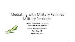 Mediating with Military Families PowerPoint PPT Presentation
