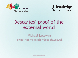 Descartes' proof of the external world