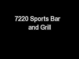 7220 Sports Bar  and Grill