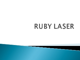 RUBY LASER HISTORY CHARACTERSTICS