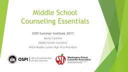 Middle School Counseling Essentials