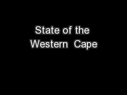 State of the Western  Cape