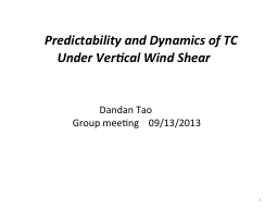 Predictability  and Dynamics of