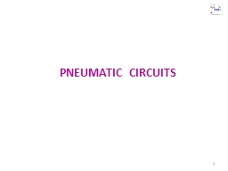 PNEUMATIC  CIRCUITS 1 Working of SINGLE acting cylinder