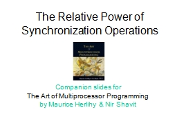 The Relative Power of Synchronization Operations
