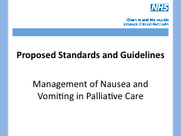 Proposed Standards and Guidelines