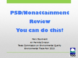 PSD/Nonattainment Review