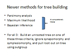 Newer methods for tree building PowerPoint PPT Presentation