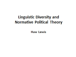 Linguistic Diversity and