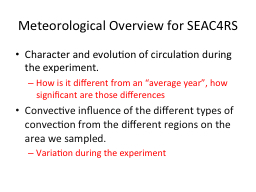 Meteorological Overview for SEAC4RS PowerPoint PPT Presentation