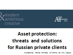 Asset protection:  threats  and solutions