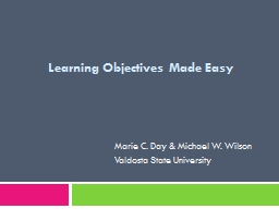 Learning Objectives Made Easy