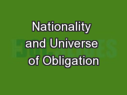 Nationality and Universe of Obligation