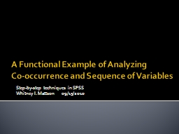 A Functional Example of Analyzing