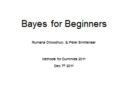Bayes for Beginners Rumana