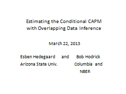 Estimating the Conditional CAPM