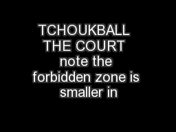 TCHOUKBALL  THE COURT  note the forbidden zone is smaller in