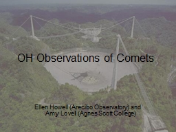OH Observations of Comets
