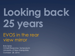 Looking back 25 years EVOS in the rear view mirror PowerPoint PPT Presentation