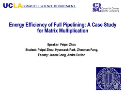 Energy Efficiency of Full Pipelining: A Case Study for Matrix Multiplication