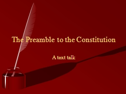 A text talk The Preamble to the Constitution