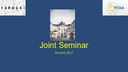 Joint Seminar Brussels 2017