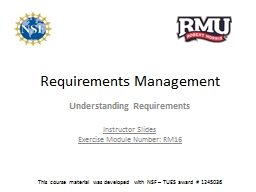 Requirements  Management PowerPoint PPT Presentation