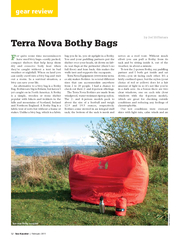 gear review  Sea Kayaker  February  Terra Nova Bothy B