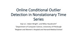 Online Conditional Outlier