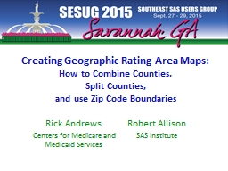 Creating Geographic Rating Area Maps: