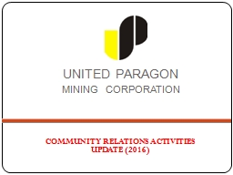UNITED  PARAGON     MINING  CORPORATION