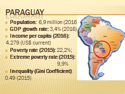 Paraguay Population :   6,9 PowerPoint PPT Presentation