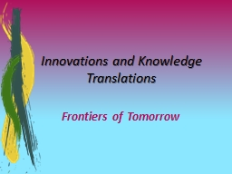 Innovations and Knowledge Translations