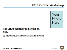 10/27/2017  Faculty/Student Presentation: PowerPoint PPT Presentation