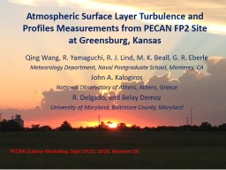 Atmospheric Surface Layer Turbulence and