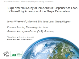 Experimental Study of Temperature-Dependence