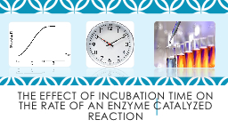 The effect of incubation time on the rate of an enzyme catalyzed reaction