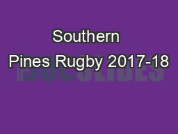 Southern Pines Rugby 2017-18