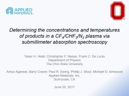 Determining the concentrations and temperatures of products in a