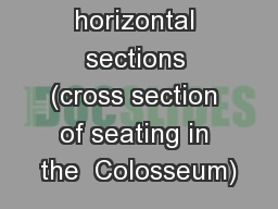 Maeniana : horizontal sections (cross section of seating in the  Colosseum)