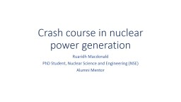 Crash course in nuclear power