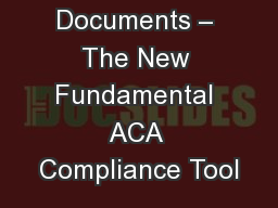 Wrap Plan Documents – The New Fundamental ACA Compliance Tool