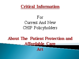 Critical Information For PowerPoint PPT Presentation