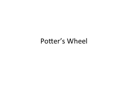 Potter's Wheel The Paper…