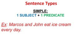 Sentence Types SIMPLE : PowerPoint PPT Presentation